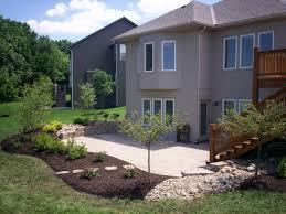 how to landscape around concrete patio google search gardening