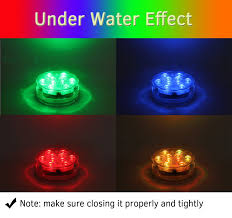 halloween led spotlights amazon com submersible led lights with remote battery powered