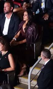 meghan markle toronto markle at the air canada centre in toronto during the invictus