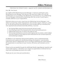 Samples Of Resume Letter by Best Account Manager Cover Letter Examples Livecareer