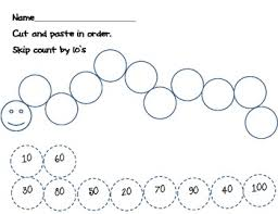 Counting By Tens Worksheets For Kindergarten Skip Counting By 10 S Caterpillar Theme By Lovin The Littles Tpt