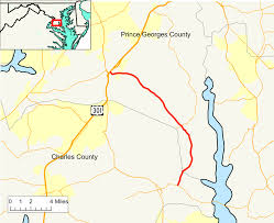 Md County Map Maryland Route 381 Wikipedia