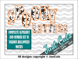spooky letters svg layered letters halloween letters