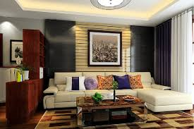 swedish living room interior design with partition cabinet 3d house