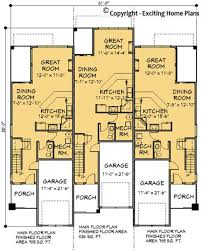 modern house garage u0026 dream cottage blueprints by exciting home plans