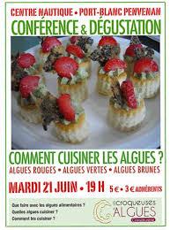comment cuisiner les algues comment cuisiner les algues conférence le 21 juin à port blanc