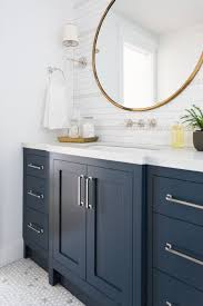 round bathroom vanity cabinets windsong tour basement pt 1 navy cabinets studio mcgee and