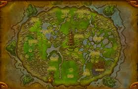 Wow Map Pandaria In Wow Stroke Clearly Shows What Is Discovered And
