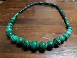 beautiful beads necklace images Beautiful carved malachite graduated bead necklace with 6 mm 10 JPG