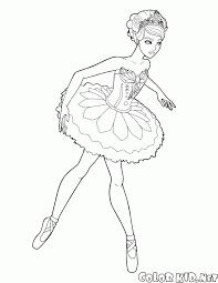 coloring page ballerinas