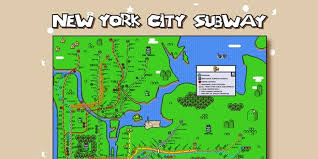 Overview Map Of New York City by The New York City Subway Map U0027super Mario World U0027 Style Video