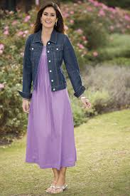 misses clothing pintucked maxi dress jean jacket misses chadwicks style