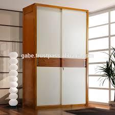 Armoire With Glass Doors Wooden Sliding Door Wardrobe Armoire Wooden Sliding Door Wardrobe