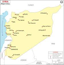syria on map cities in syria syria cities map