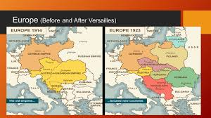 Map Of Europe 1914 Terms Of The Paris Peace Conference Ppt Download