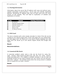 check out report template seo analysis report template 1