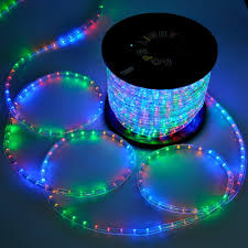 lighting led rope light 150ft multi color w