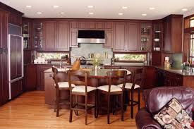 Granite Countertops With Cherry Cabinets Travertine Countertops Cherry Wood Kitchen Cabinets Lighting