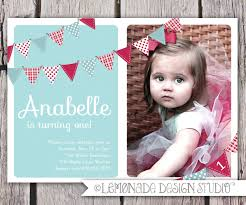 Happy Christening Invitation Card First Birthday Invitation Bunting Flags Banner Photo Printable