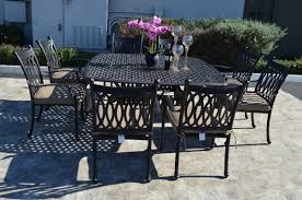 Tuscan Dining Chairs K B Patio Grand Tuscany 9 Piece Dining Set With Cushions U0026 Reviews