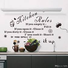 kitchen rules if you empty it fill it quotes wall decals black kitchen rules if you empty it fill it quotes wall decals black letters and decorative pattern