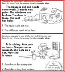 main idea worksheets 1st grade free worksheets library download
