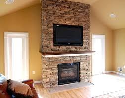 High Fireplace Interior Tv Above Fireplace