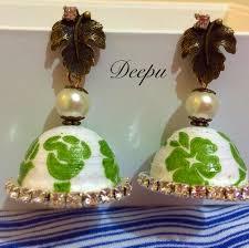 decoupage earrings quilling decoupage jumka tutorial