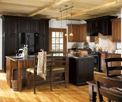 Black Rustic Kitchen Cabinets Rustic Kitchen With Off White Cabinet Accents Schrock