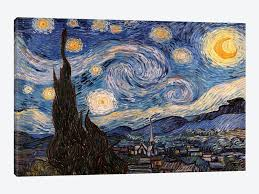 the starry night by vincent van gogh 1 piece art print