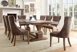 homelegance marie louise dining table rustic oak brown 2526 96