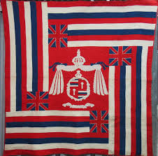 Old Hawaiian Flag Pictorial Quilts