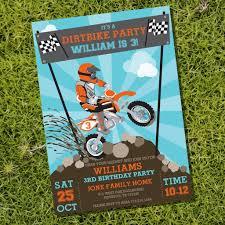 dirt bike motocross games dirt bike party invitation motocross birthday invite u2013 sunshine
