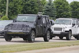 jeep wrangler unlimited 2018 2018 jeep wrangler jl 2 door spied zf 8 speed auto and other