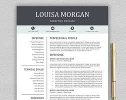Resume Template With Cover Letter Modern Resume Template U0026 Cover Letter Icon Set For Microsoft