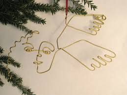 wire sculpture christmas ornaments holiday decorations wire