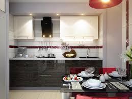 red and black kitchen ideas square white minimalist duco glosy