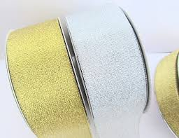 gold metallic ribbon embellishment world ribbon christmas ribbon 33 yards