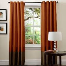 Orange Patterned Curtains Dark Brown Patterned Curtains Best Curtains Design 2016
