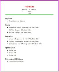 easy resume exles easy resume sles 16 a simple exle exles nardellidesign