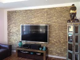 steinwand wohnzimmer tv haus renovierung mit modernem innenarchitektur geräumiges
