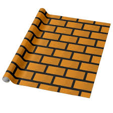 map wrapping paper roll 8 bit brick wall wrapping paper zazzle