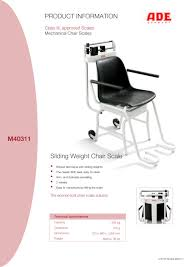 Mechanical Chair Sliding Weight Chair Scale M40311 M302000 01 Ade Pdf