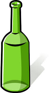 cartoon wine bottle clipart green bottle