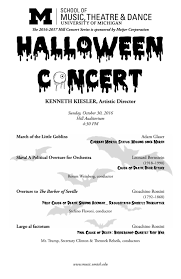 halloween concert 2016 by university of michigan of music