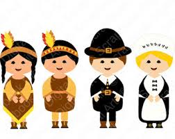 thanksgiving clip pilgrims and indians happy thanksgiving