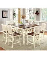 Vintage Oak Dining Chairs Holiday Savings Furniture Of America Pauline 9 Piece Cottage