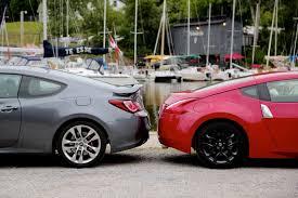 genesis hyundai coupe 2015 2015 nissan 370z vs 2015 hyundai genesis coupe dpccars
