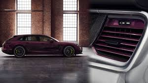 porsche metallic porsche will sell you a purple panamera wagon with matching vents