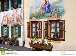 Painted Houses Beautifully Painted Houses In Bavaria Stock Photo Image 20310620